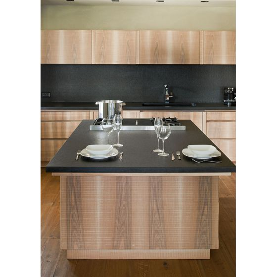 Custom made kitchen wood ad stone | In the kitchen the simple actions of preparing food to be shared with family and friends, together with encountering the colours, aromas and fragrances of the fruits of the earth, become the life-giving roots and rediscovery of our humanity. Kitchenware by Serafino Zani
