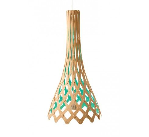 Half Nikau Bicolore, suspension éco design, luminaire écologique, Moaroom, David Trubridge. http://www.greeen-store.com/fr/lustres-suspensions/2650-Half-nikau-bicolore-suspension-eco-design.html