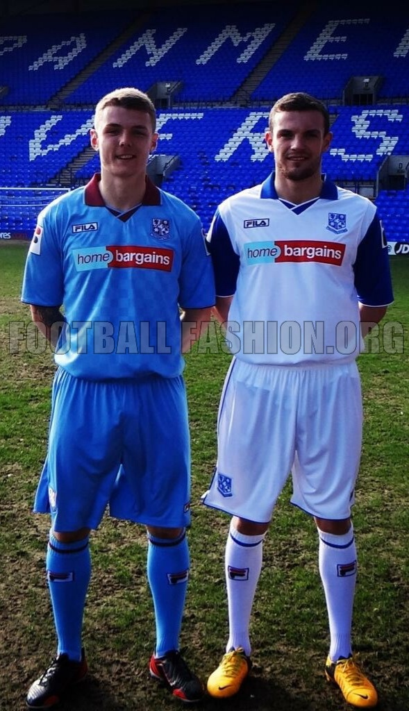 Tranmere Rovers FC 2013/14 Errea Home and Away Kits