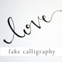 I love hand lettering!  This tutorial makes fake calligraphy look easy.