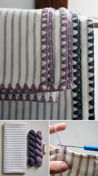 DIY Blankets with Easy Stitch Tutorial. Make These Flannel Blankets