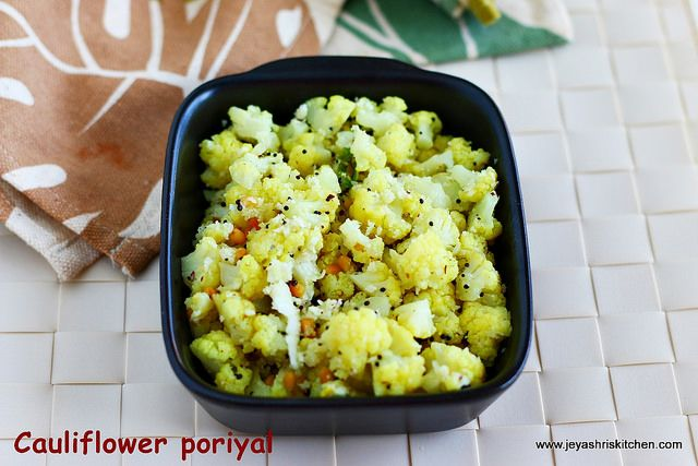 cauliflower-poriyal