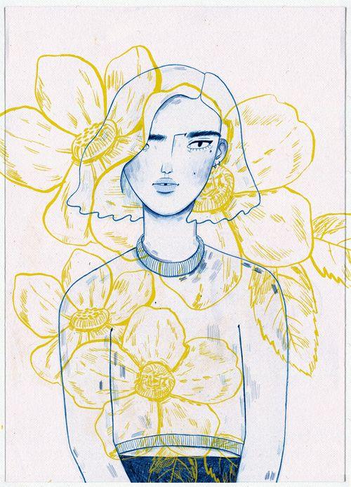 Image of Yellow Flowers - Print