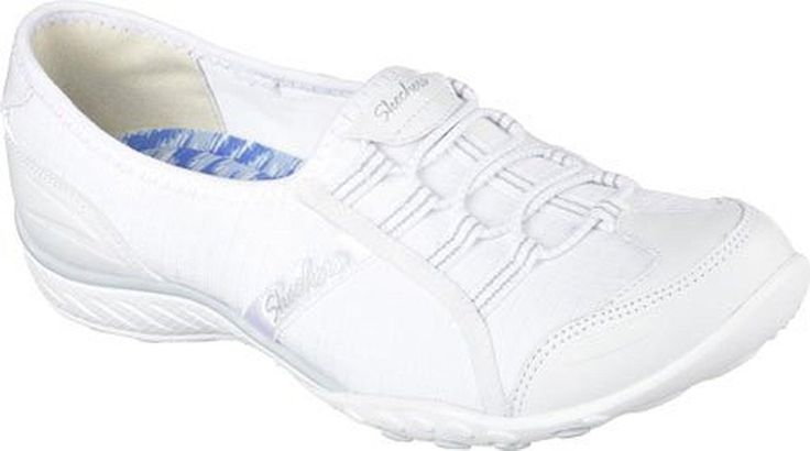 Skechers Sport Women's Breathe Easy Allure Fashion Sneaker, White, 5.5 M US - Brought to you by Avarsha.com