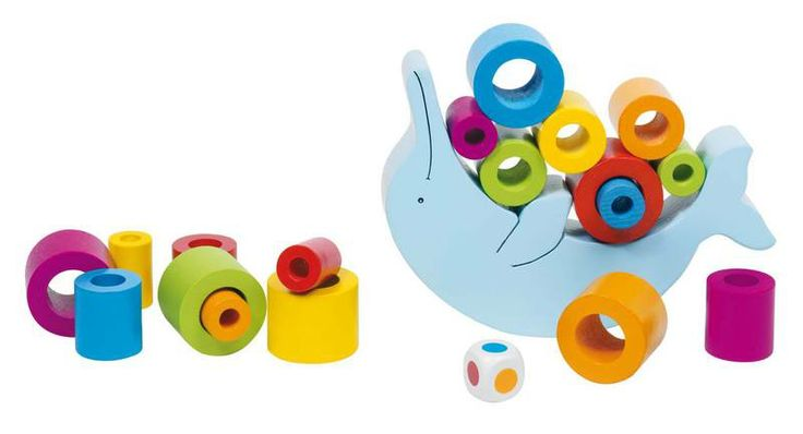 Natural and high quality toys to the development of the skills of children. Dolphin Balancing game of skill