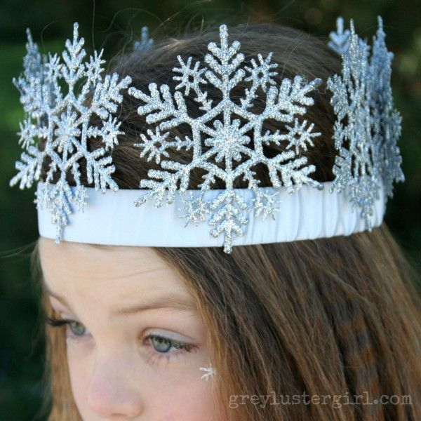 DIY Snowflake crown for Snow Princess Halloween Costume