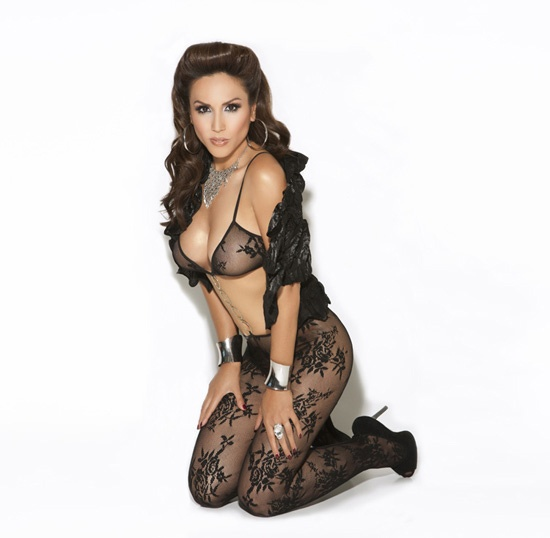 Elegant floral lace hugs your curves bodystocking with ring detail.