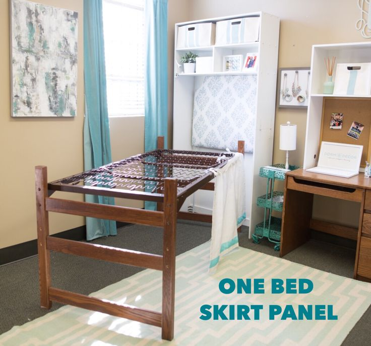 Finally a bed skirt designed especially for a dorm bed! Our bed skirts tie onto the mattress springs to give you a perfect length every time.No need to pay for