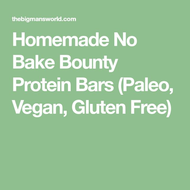 Homemade No Bake Bounty Protein Bars (Paleo, Vegan, Gluten Free)