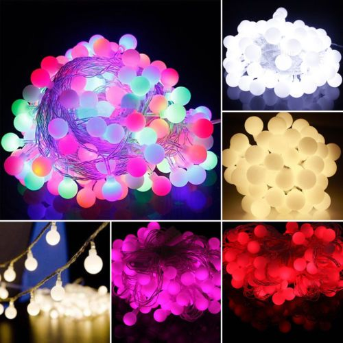 Superb M LED Globe Ball Mini Blub Fairy String Christmas Light Garden Window Xmas