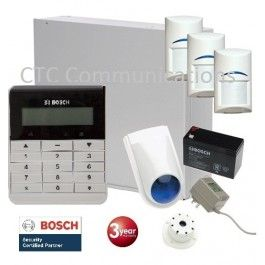 Bosch Solution 2000 Alarm System with 3 x Gen 2 Tritech Detectors+ Text Code pad