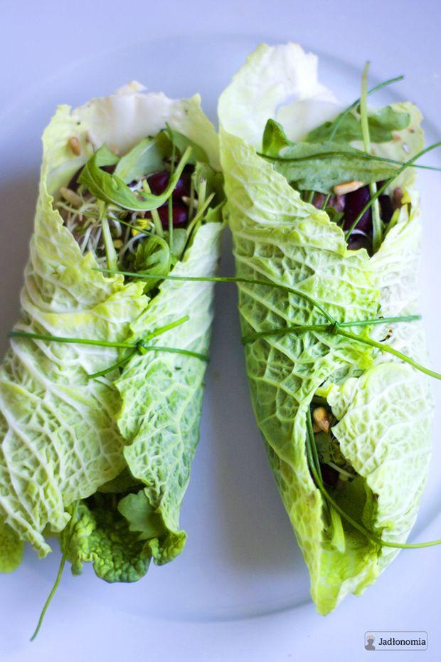 jadłonomia • roślinne przepisy: Bardzo zdrowe meksykańskie wrapy!