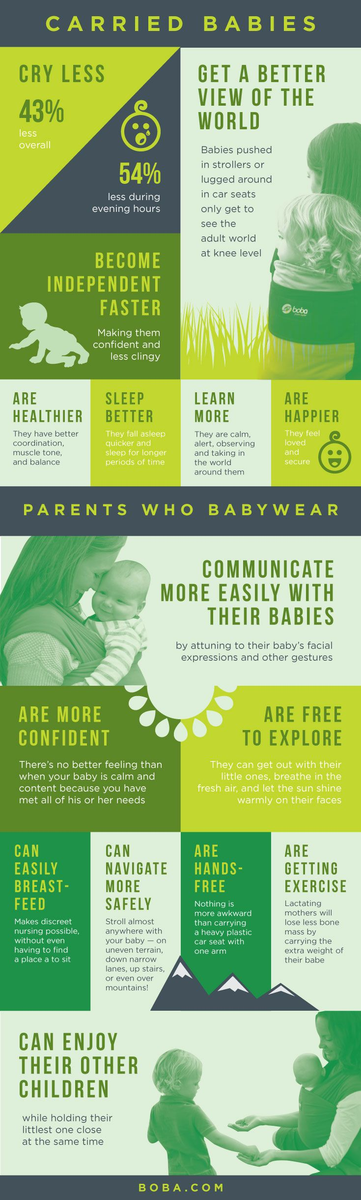 A healthy baby carrier can be your best partner in parenting wee ones! Check out these important benefits of babywearing from newborn through toddlerhood.
