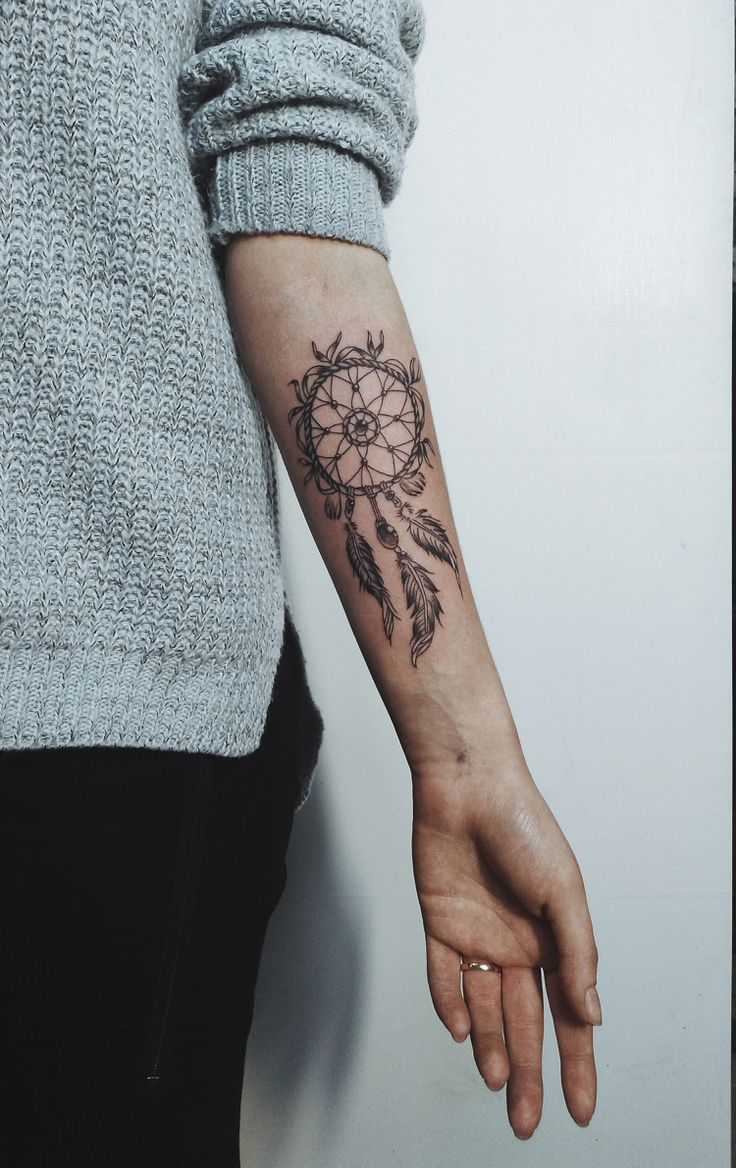 The dream catcher tattoo and its meaning + ideas for all parts of the body   – Tattoo vorlagen
