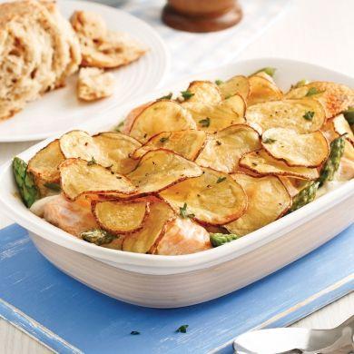 Casserole de saumon, asperges et pommes de terre - Soupers de semaine - Recettes 5-15 - Recettes express 5/15 - Pratico Pratique
