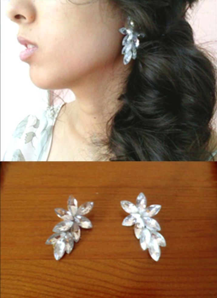 Adorable wedding earrings :) Learn to make your owns on this website : http://honestlywtf.com/diy/diy-ear-cuff/