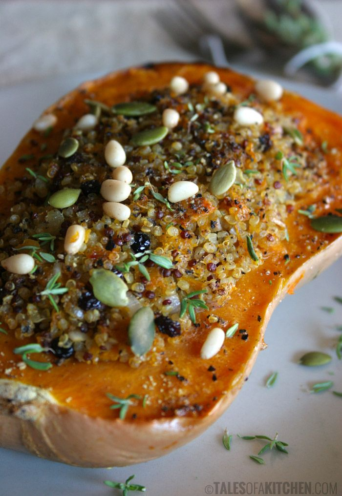 Sweet & spicy quinoa stuffed pumpkin. Moist, tender and perfectly delicious dinner.