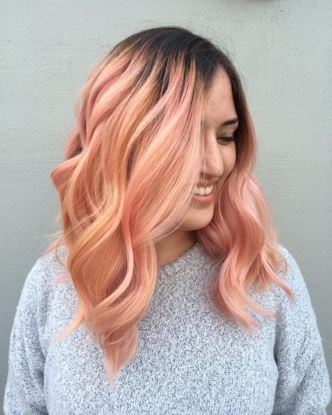Pinkish Coral Ombre for 2017