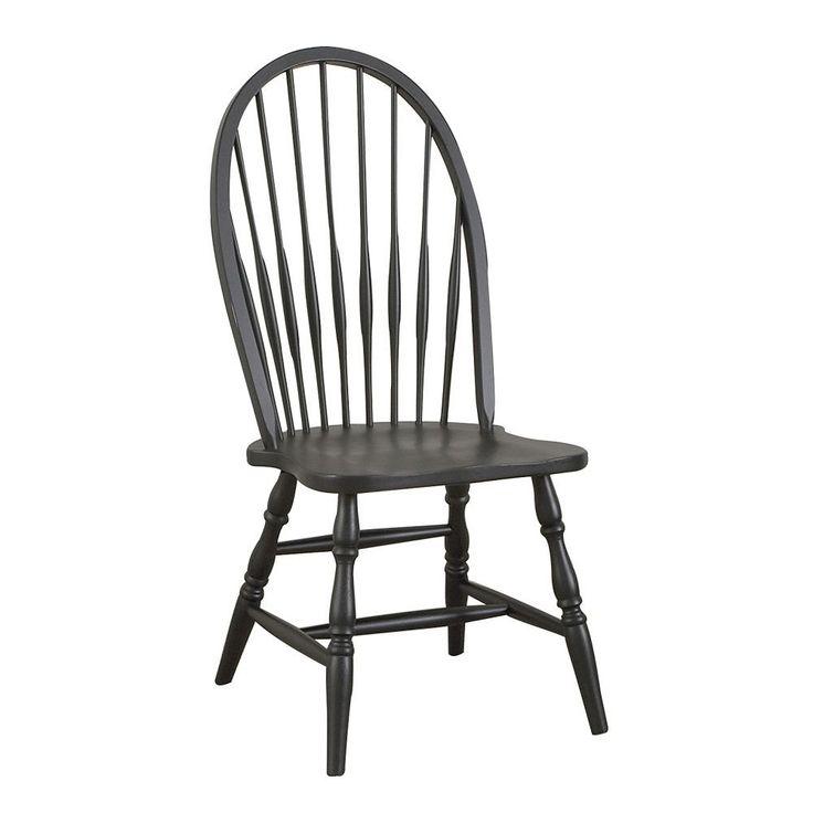 Carolina Cottage Windsor Dining Chair, Black