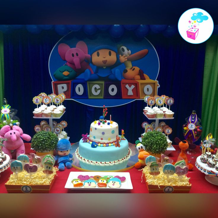 Pocoyo Birthday theme ShowerBox Events www.myshowerbox.com