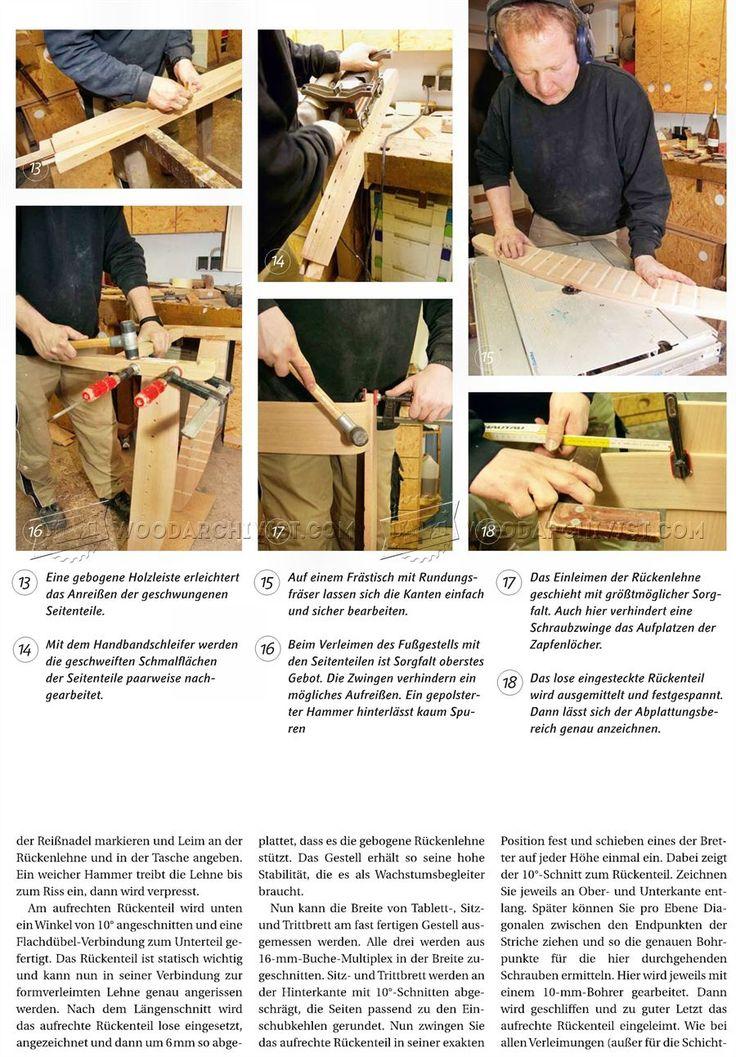 #2749 Wooden High Chair Plans - Children's Furniture Plans