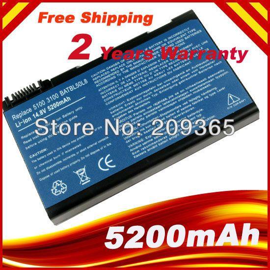 Cell 5200 мАч BATBL50L6 аккумулятор ноутбука для ACER Aspire 3100 3690 5100 5110 5610 5630 5680 бесплатная доставка