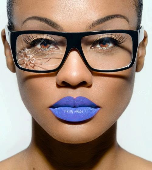 Turquoise and aqua blue lips are so in right now (and so they should be!), but this shade of powder blue, wow! Stunning!