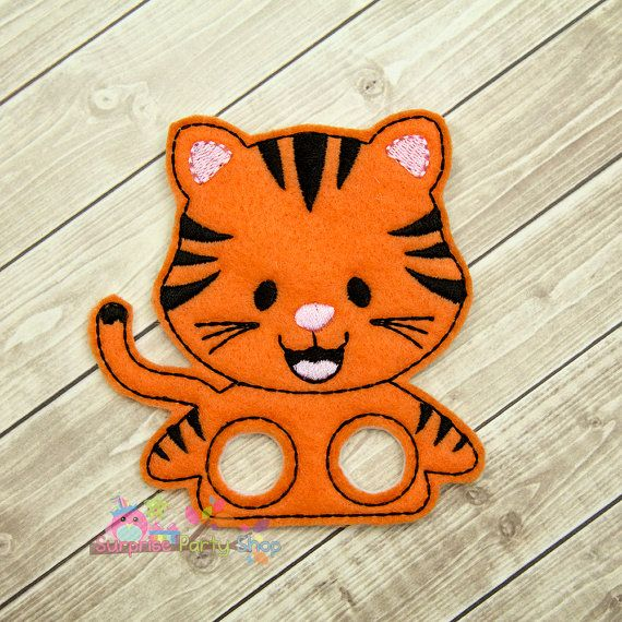 Tiger Finger Puppet Imaginative Play Baby by SurprisePartyShop