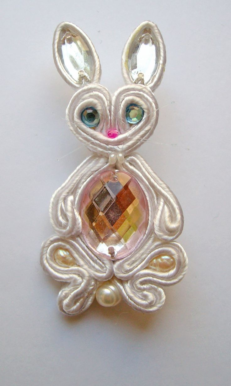 funny bunny-soutache by FdFCrafts on DeviantArt
