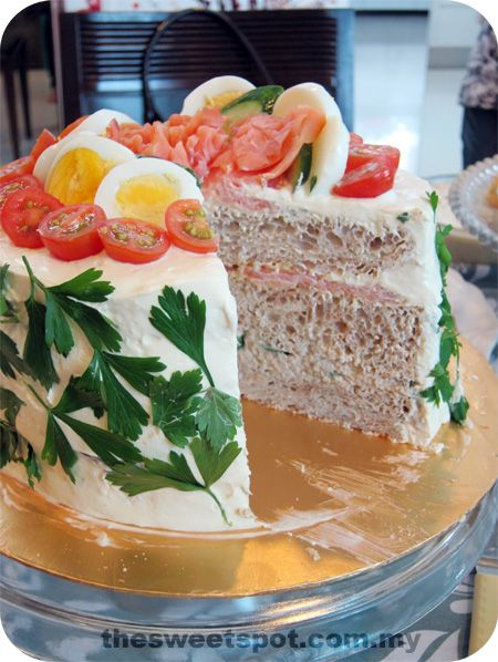 Smörgåstårta, a Swedish Sandwich Cake. WoW! I bet this is delicious despite not being simple to make.