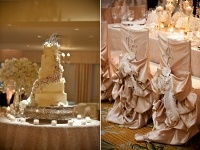 wedding cake, chairs decoration