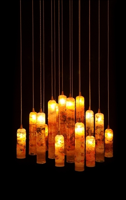 CANDLE   Alive With Texture And Color, A Group Of Candle Pendants Will  Dramatically Light Up Your World With Layers Of Multi Colors .