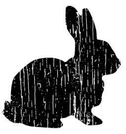 Distressed Bunny, SVG, DXF, PDF cut file. by MakeitPersonalShop on Etsy