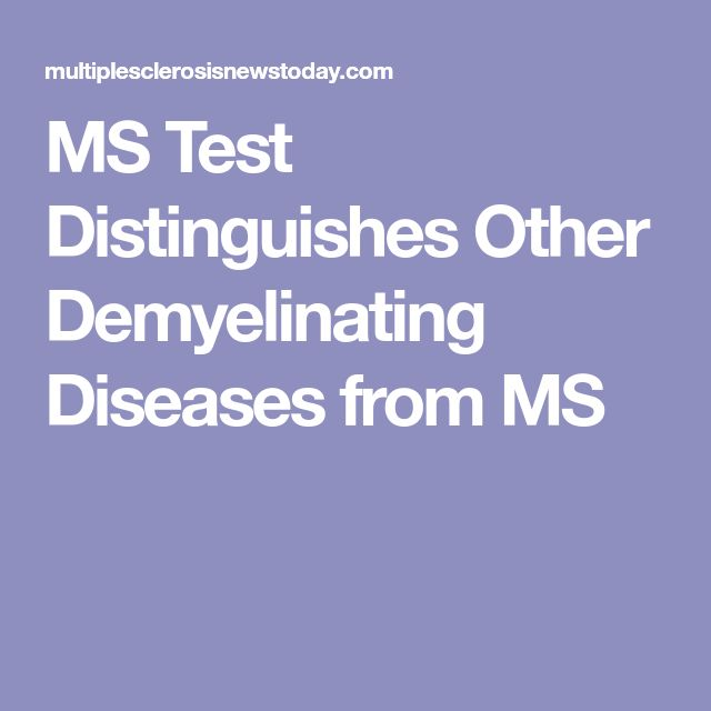MS Test Distinguishes Other Demyelinating Diseases from MS