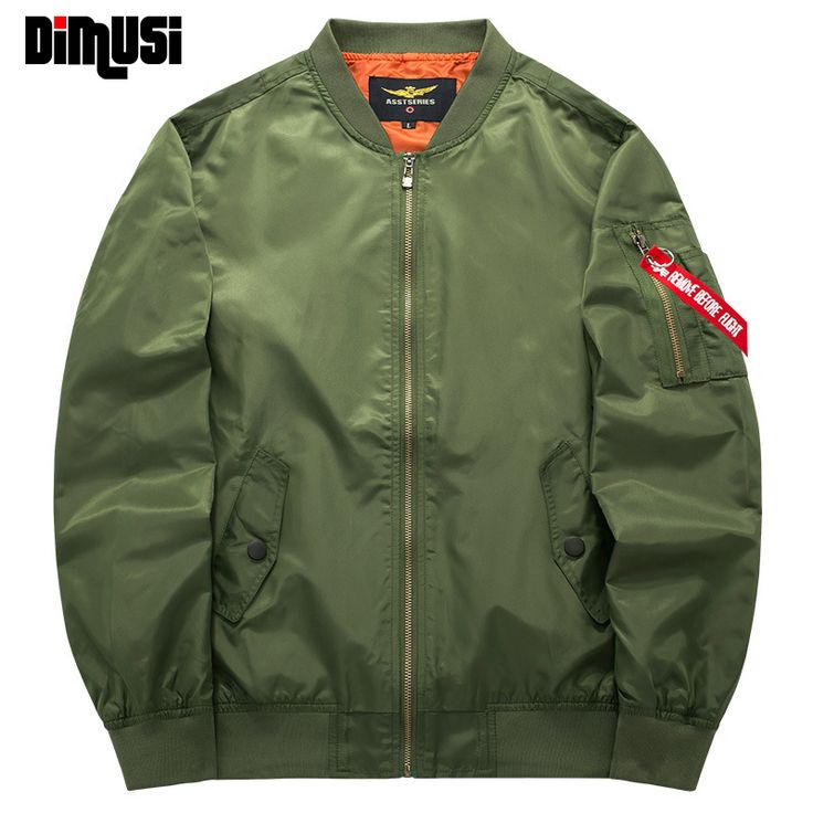 2017 Spring Autumn Mens Solid Flight Army Green Bomber Jacket Men's Rib Sleeve Zipper Short Air Force Bomber Coats Clothing 6XL #CLICK! #clothing, #shoes, #jewelry, #women, #men, #hats, #watches