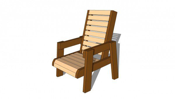 Deck Chair Plans | MyOutdoorPlans | Free Woodworking Plans and Projects, DIY Shed, Wooden Playhouse, Pergola, Bbq