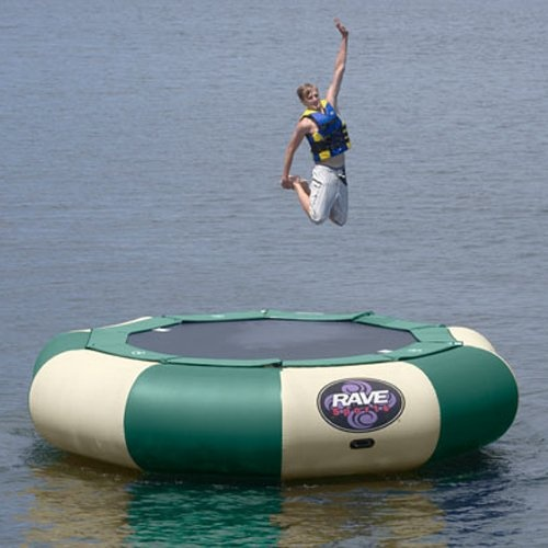 Have to have it. 12 ft. RAVE Sports Northwoods Aqua Jump Eclipse Water Trampoline Package $2199.99  #hayneedlehome
