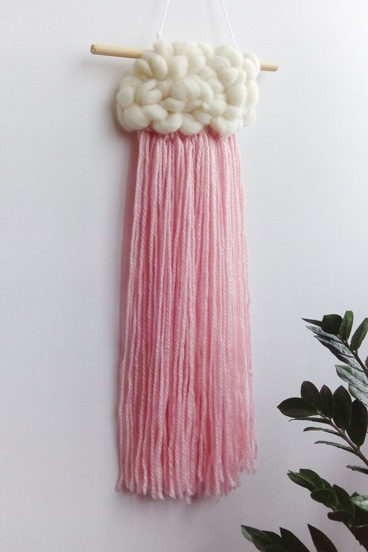 woven cloud wall hanging for nursery fluffy cloud decoration etsy