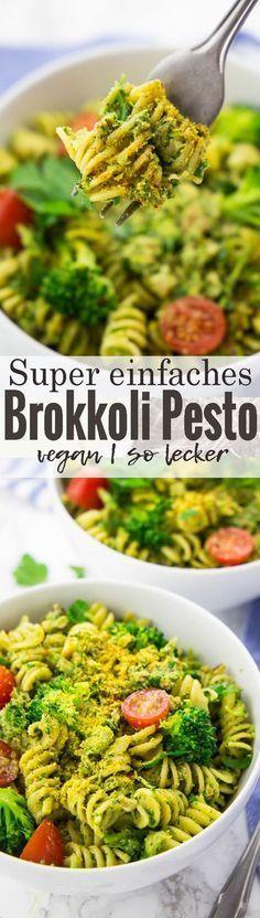 Dieses Brokkoli Pesto ist nicht nur super einfach, sondern auch total lecker und gesund! Einfache Rezepte können so lecker sein!! Mehr vegane Rezepte findet ihr auf veganheaven.de!