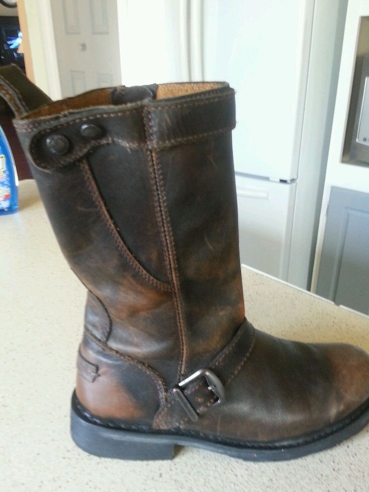 Model HarleyDavidson Womens Hustin Brown High Cut Boot  Barnett Harley