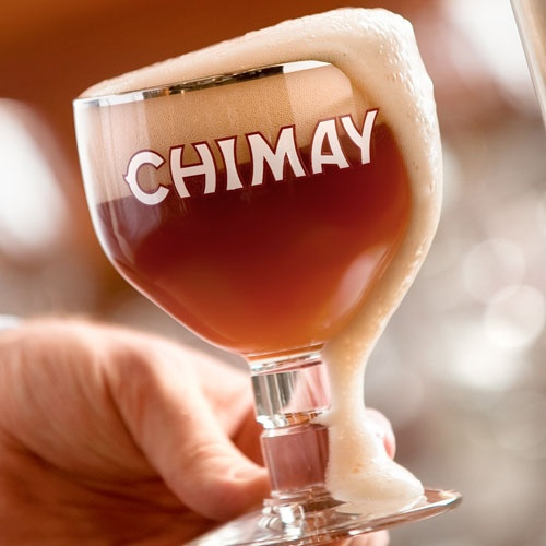 Classic. This is one brew that I did get to enjoy this weekend. Chimay Tripel. And unlike this picture... I made sure it all stayed in the glass.
