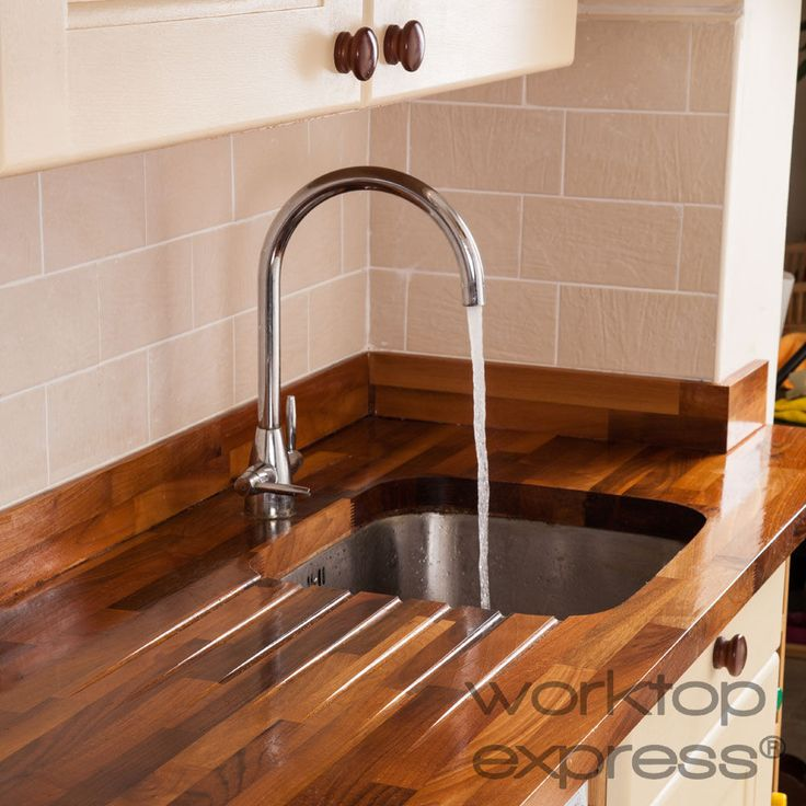 Solid Walnut Wood Kitchen Worktop 4M X 620 X 40mm