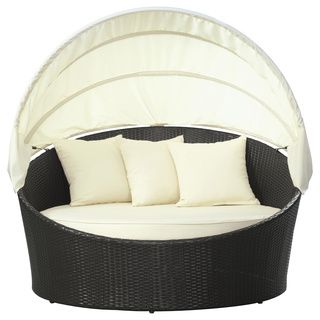 Siesta Outdoor Rattan Canopy Bed   Overstock.com Shopping - The Best Deals on Sofas, Chairs & Sectionals