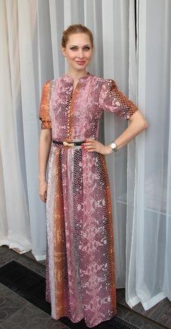 Платье макси со змеиным принтом