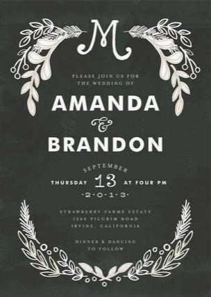 minted wedding invitation, chalkboard wedding by alethea and ruth