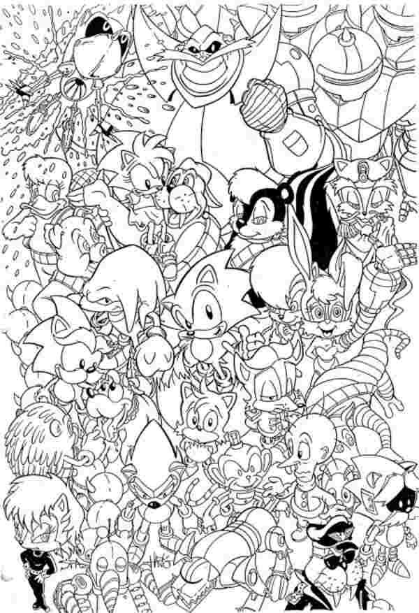 Sonic And Friends Coloring Pages Www Shop Nyctours Com