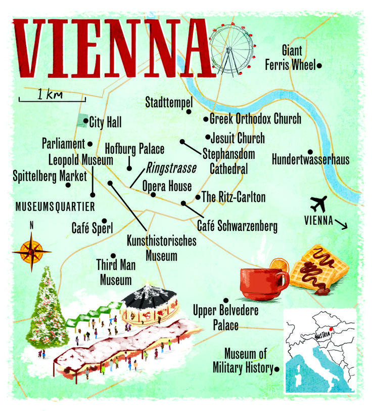 Vienna map by Scott Jessop. January 2014 issue                                                                                                                                                                                 More