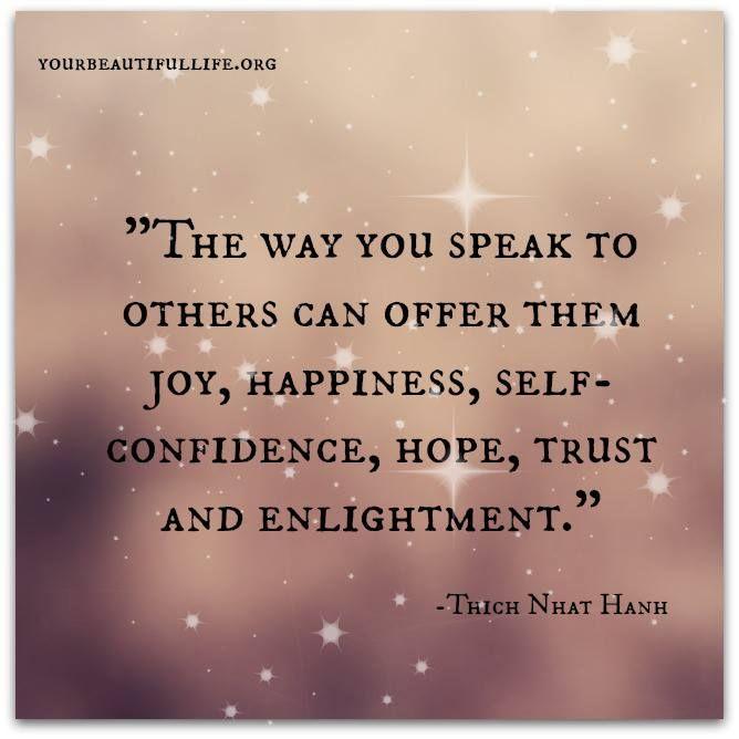 The way you speak
