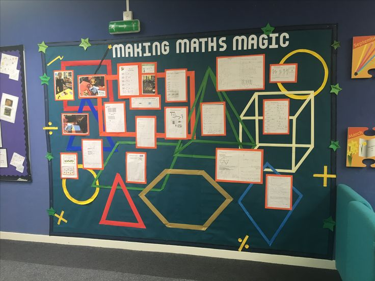 Maths Display board for primary age numeracy.