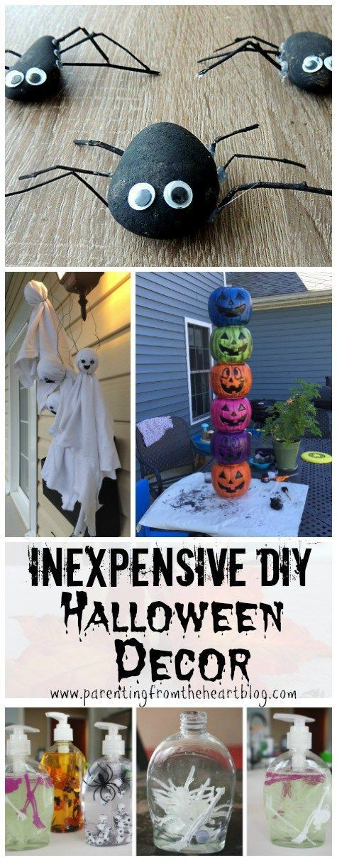 inexpensive and easy diy halloween decor. Black Bedroom Furniture Sets. Home Design Ideas